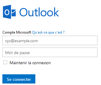 Compte Microsoft Outlook